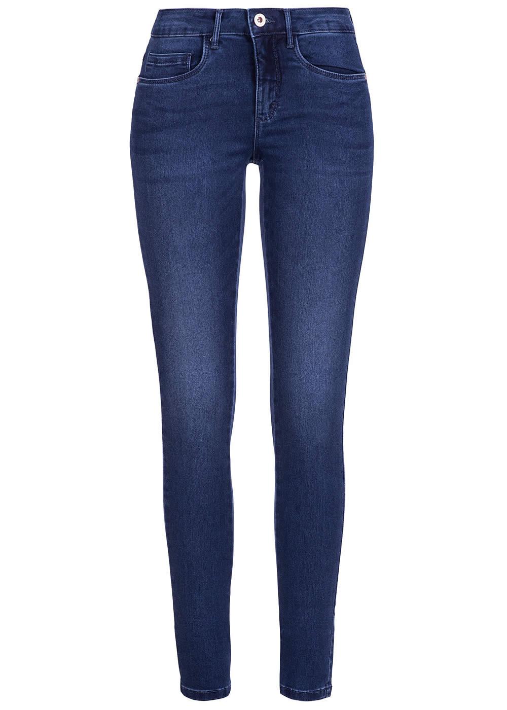 only damen skinny jeans noos 5 pockets stretch medium blau. Black Bedroom Furniture Sets. Home Design Ideas