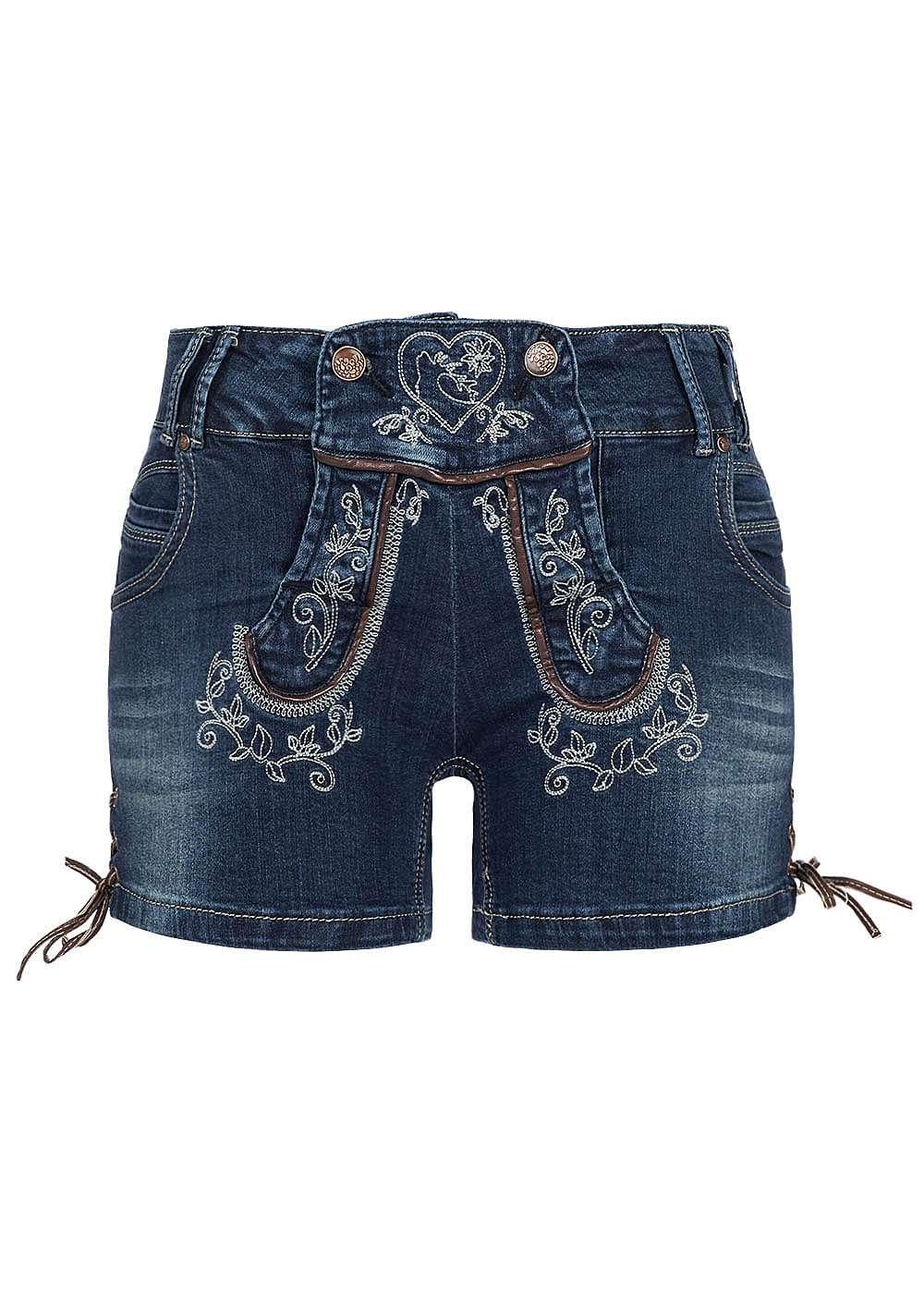 hailys damen jeans short mit stickerei 6 pocket style 4. Black Bedroom Furniture Sets. Home Design Ideas