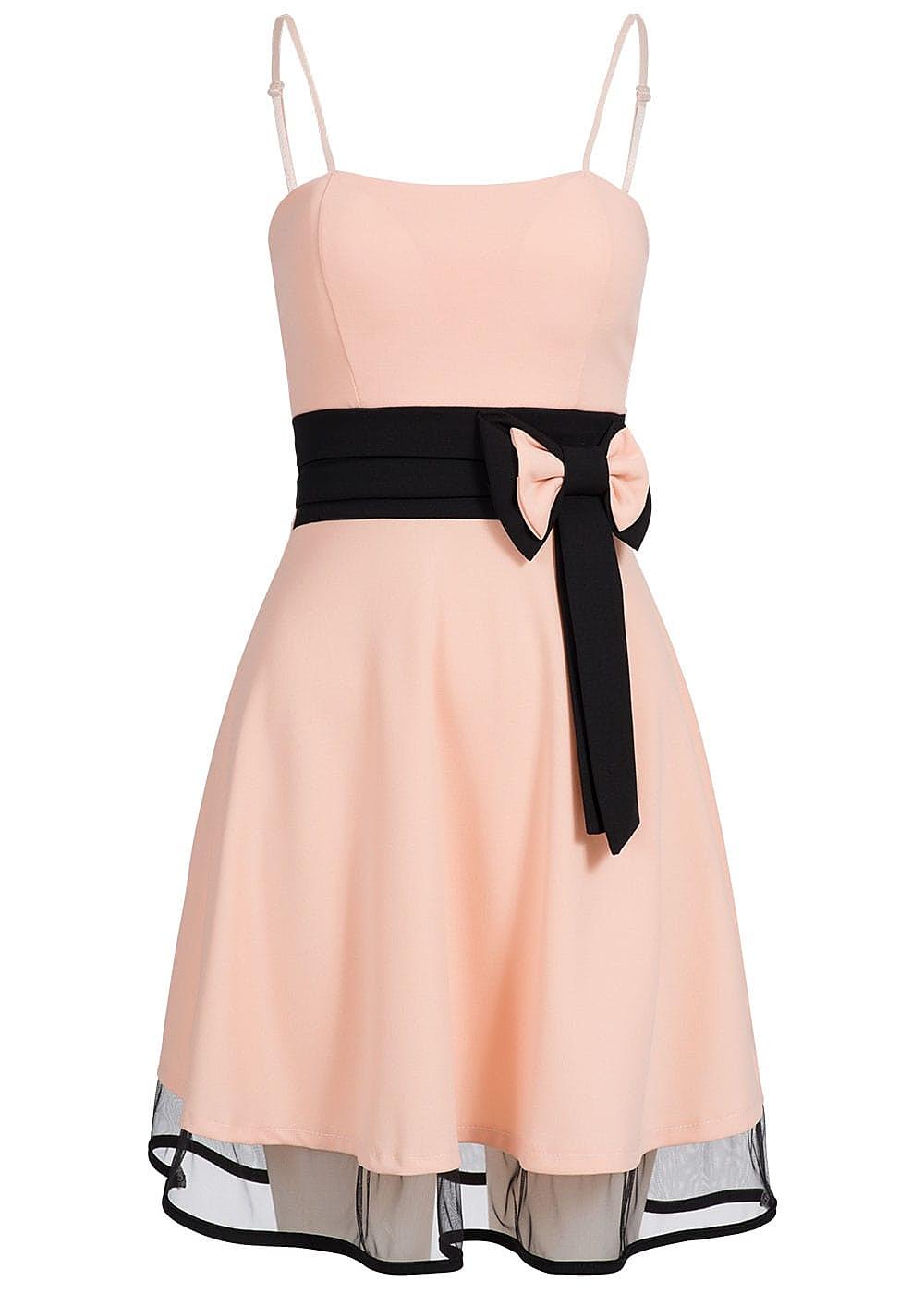 Kleid rosa mit schwarz