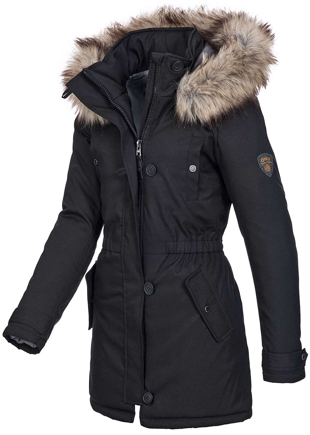 grauer parka damen navahoo la viva damen winter jacke. Black Bedroom Furniture Sets. Home Design Ideas