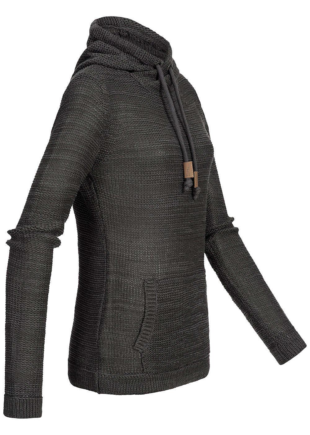 eight2nine damen strick hoodie k ngurutasche kapuze by. Black Bedroom Furniture Sets. Home Design Ideas