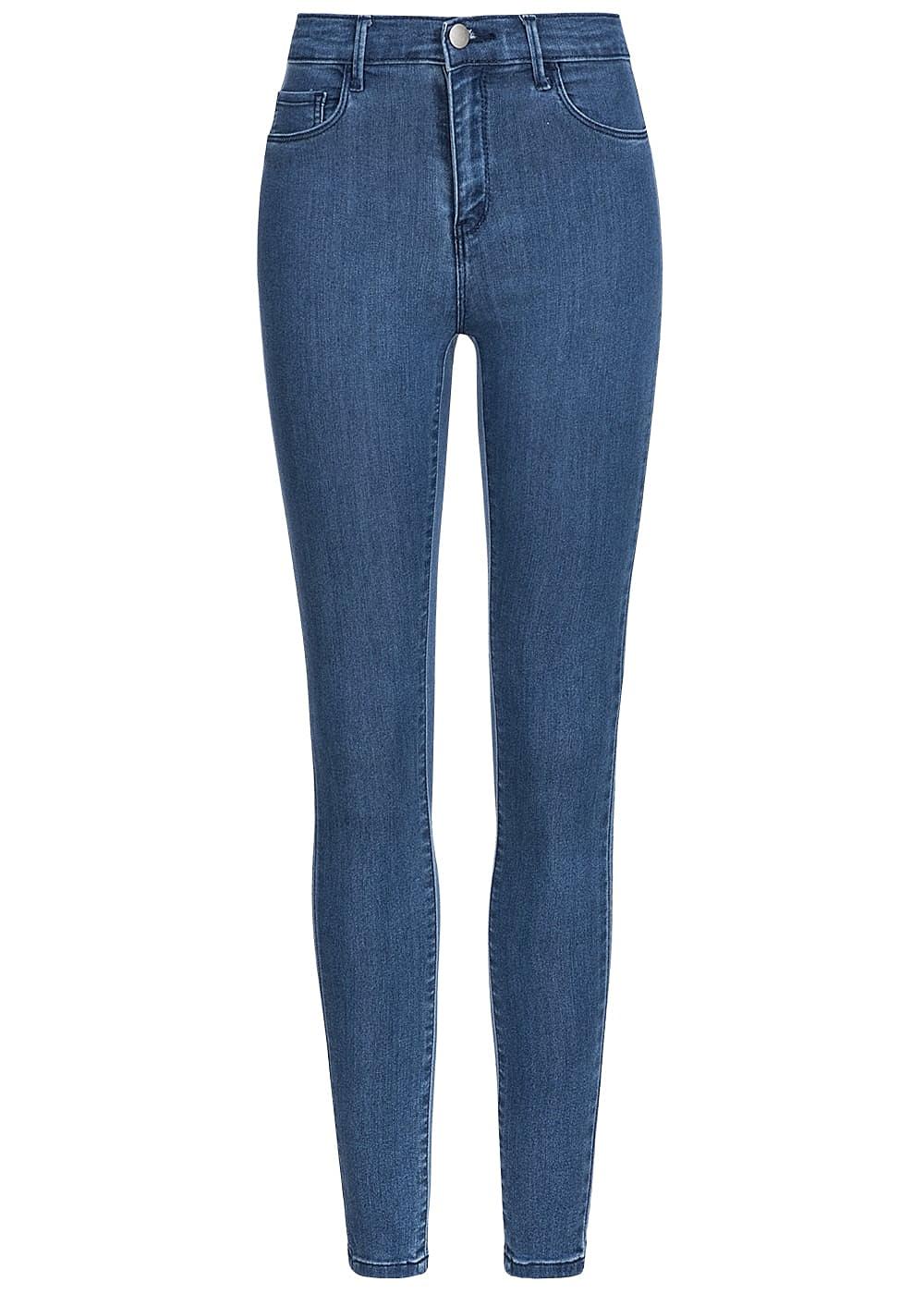 only damen skinny jeans deko taschen vorne regular waist noos medium blau denim 77onlineshop. Black Bedroom Furniture Sets. Home Design Ideas
