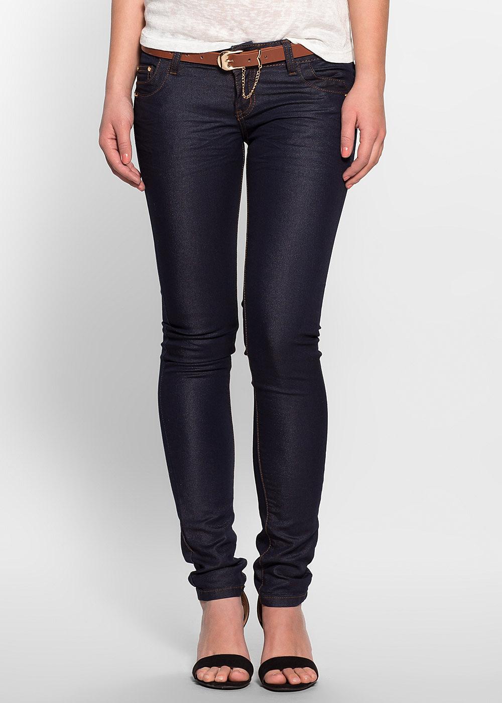 seventyseven lifestyle hose damen jeans mit g rtel 5. Black Bedroom Furniture Sets. Home Design Ideas