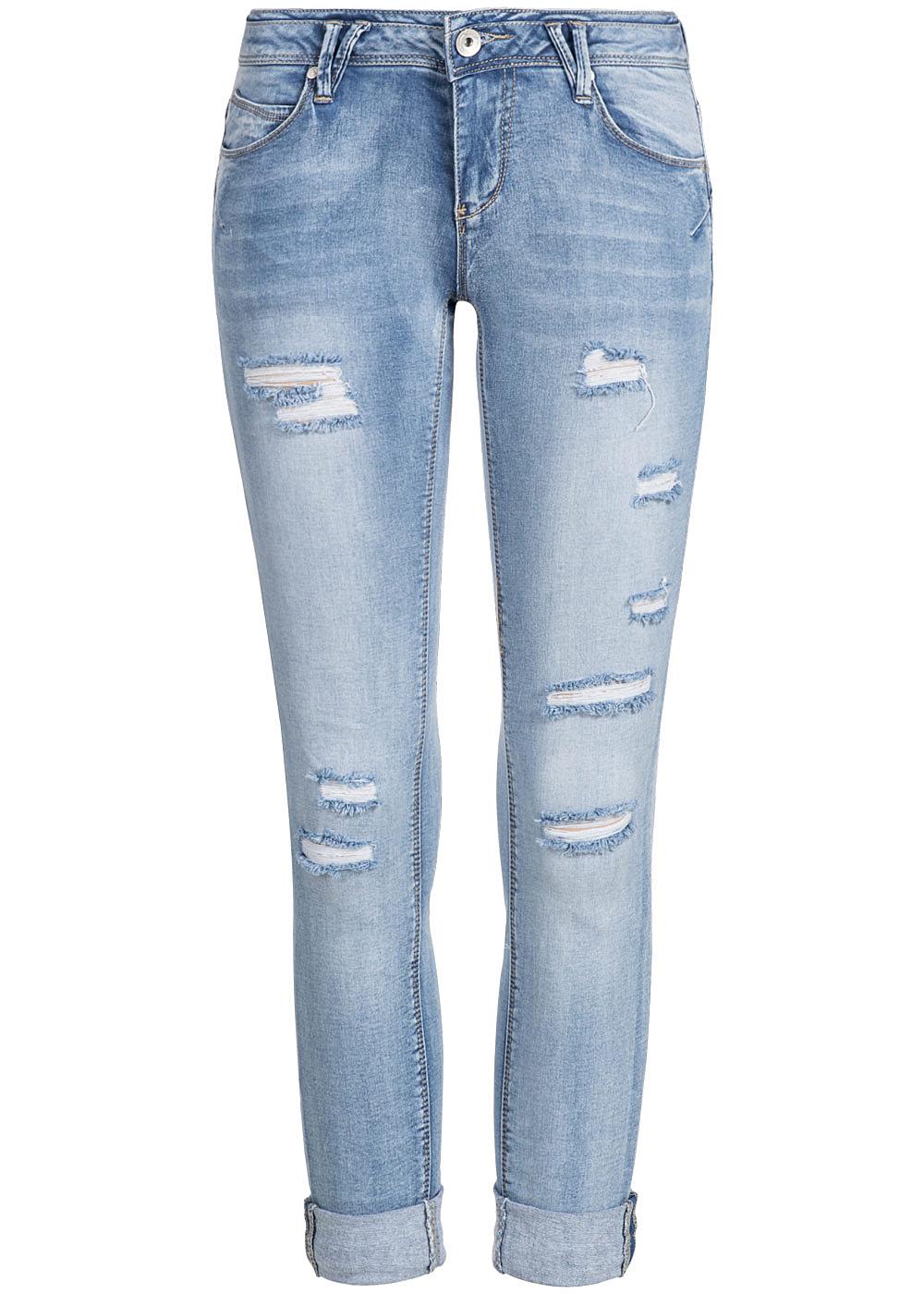 hailys damen 7 8 jeans low waist 5 pocket style destroy. Black Bedroom Furniture Sets. Home Design Ideas
