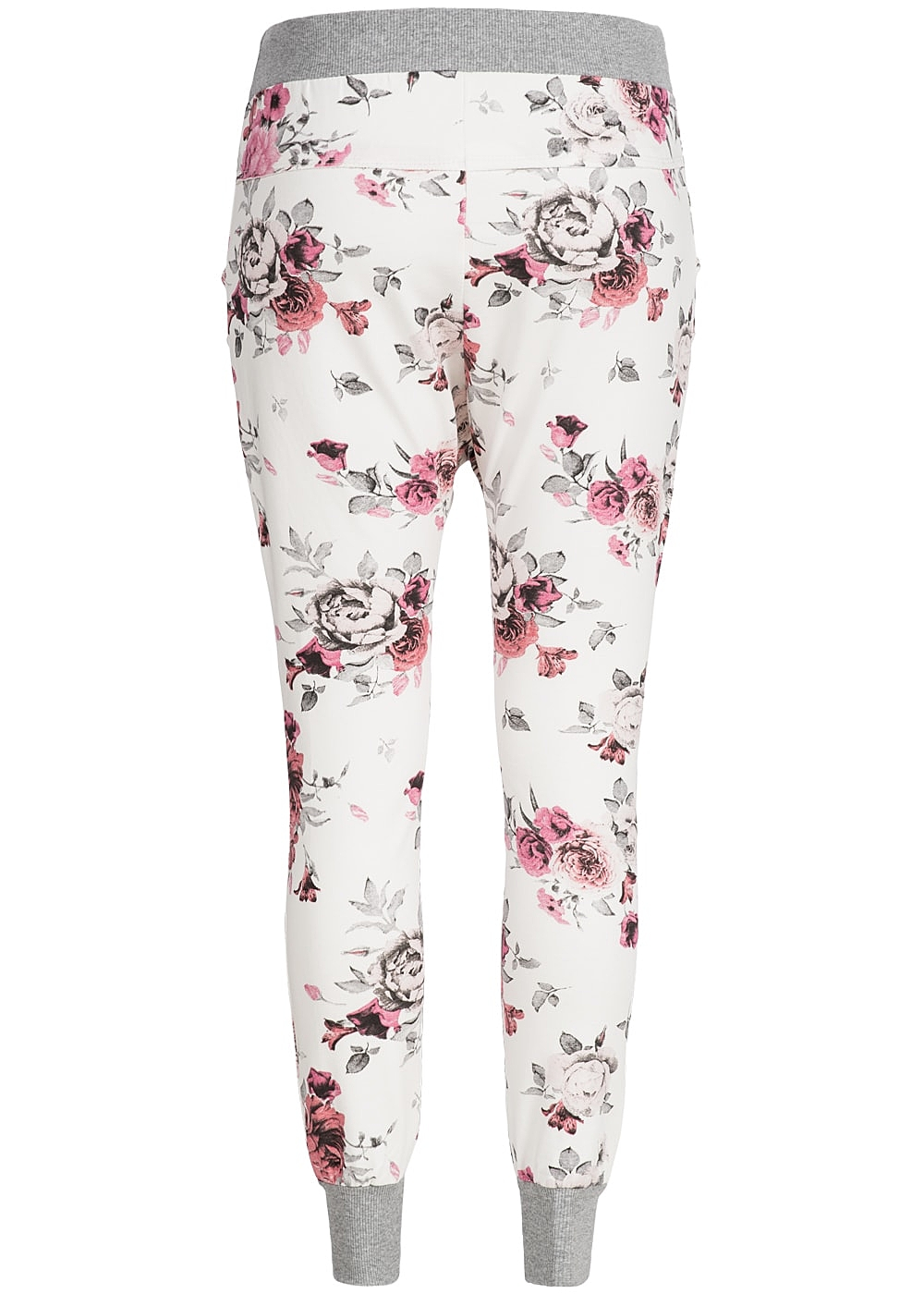 styleboom fashion damen sweat pant blumen 2 taschen tiefer. Black Bedroom Furniture Sets. Home Design Ideas