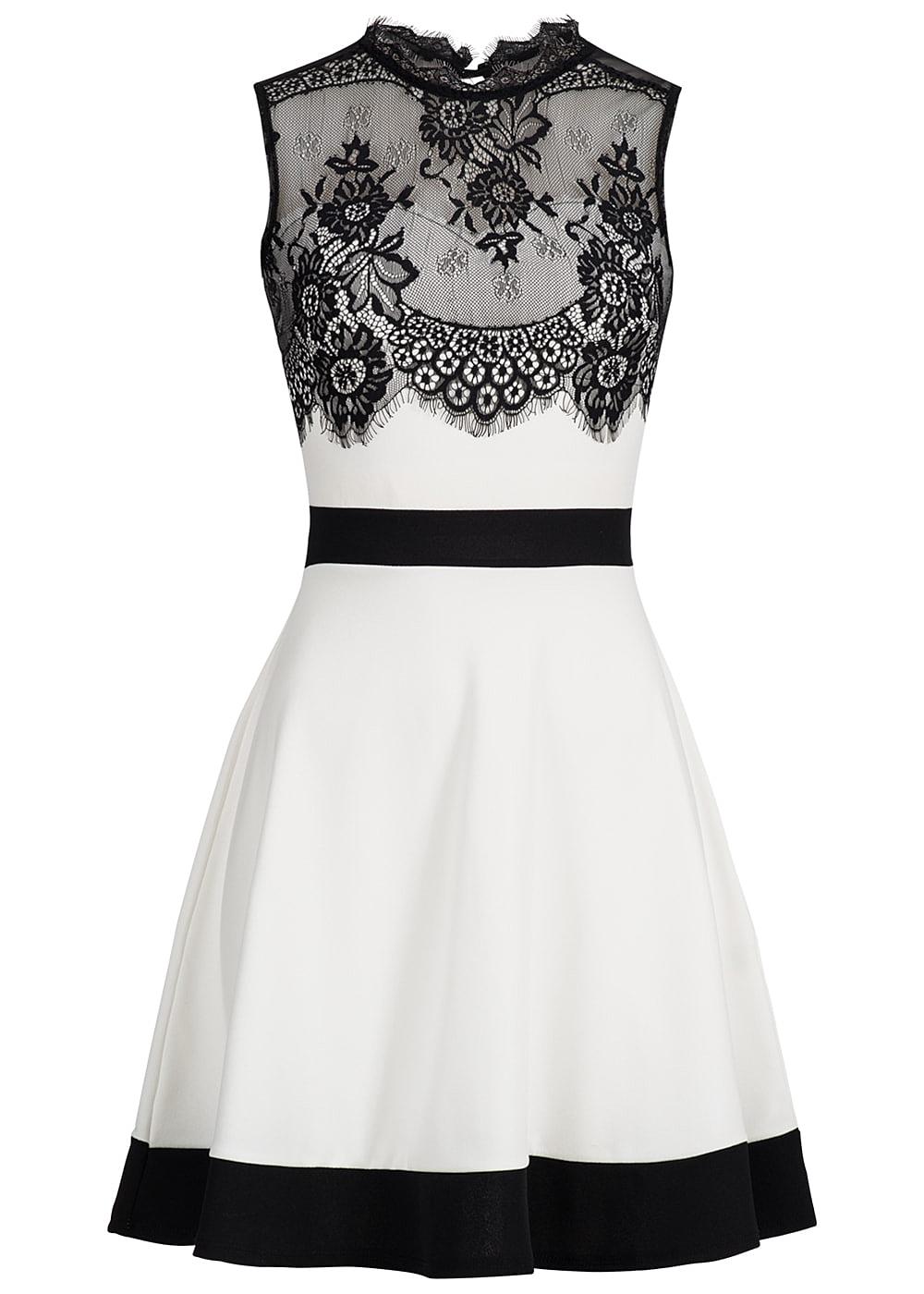 Kleid mit spitze weiss