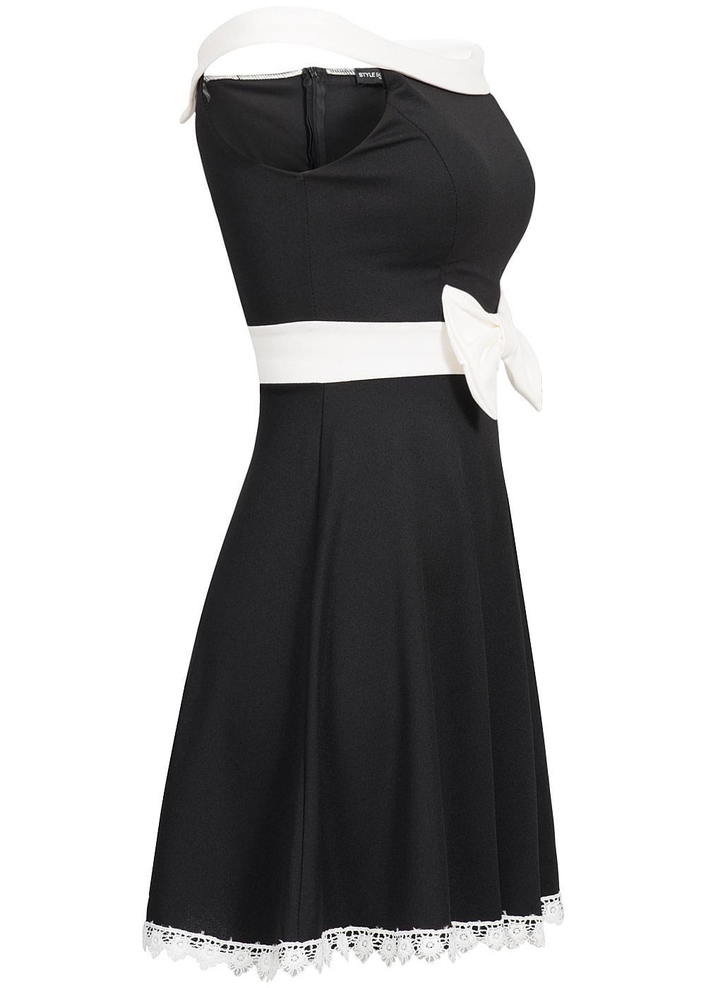 styleboom fashion damen mini kleid off shoulder zipper. Black Bedroom Furniture Sets. Home Design Ideas