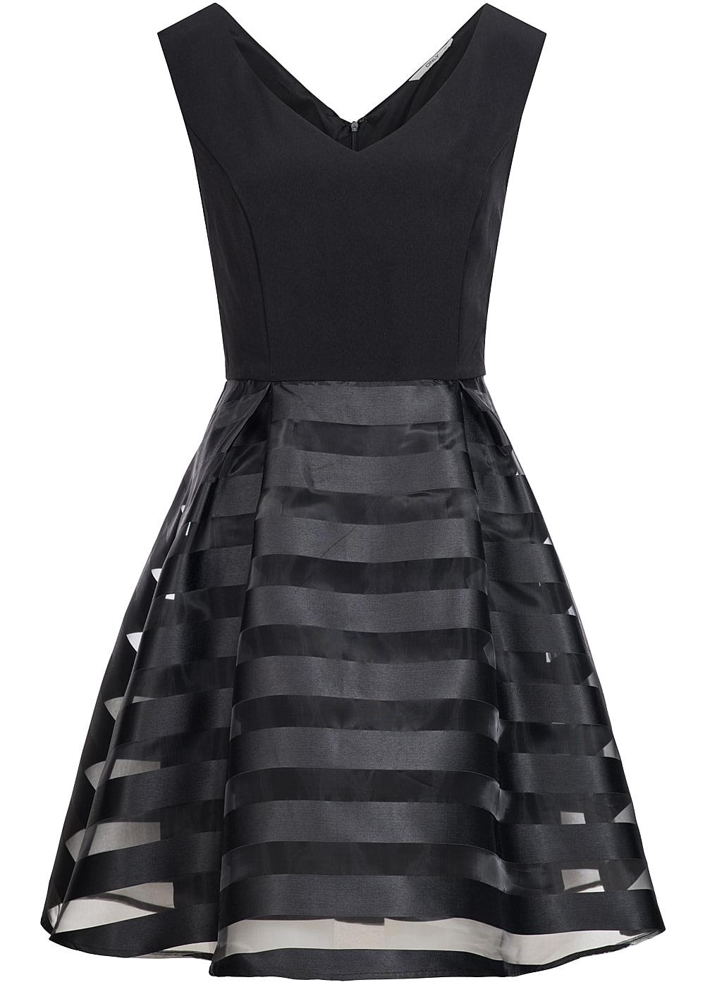 only damen mini kleid 2 lagig v ausschnitt weit ausgestellt gestreift schwarz 77onlineshop. Black Bedroom Furniture Sets. Home Design Ideas