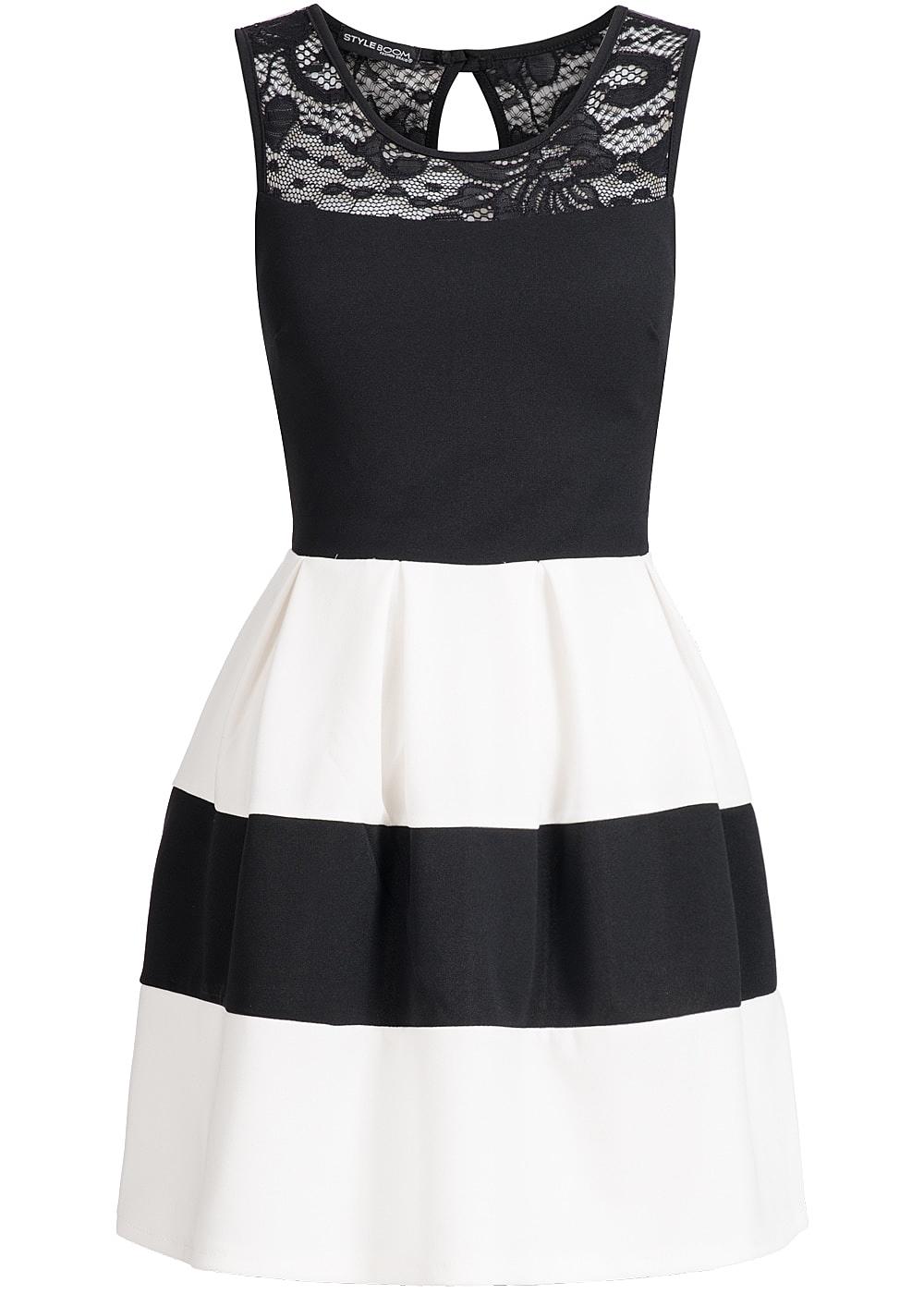 Kleid grau schwarz gestreift