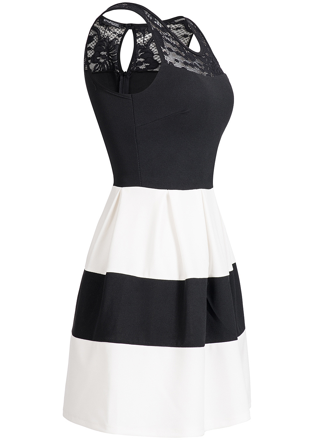 styleboom fashion damen mini kleid zipper hinten brustpads. Black Bedroom Furniture Sets. Home Design Ideas