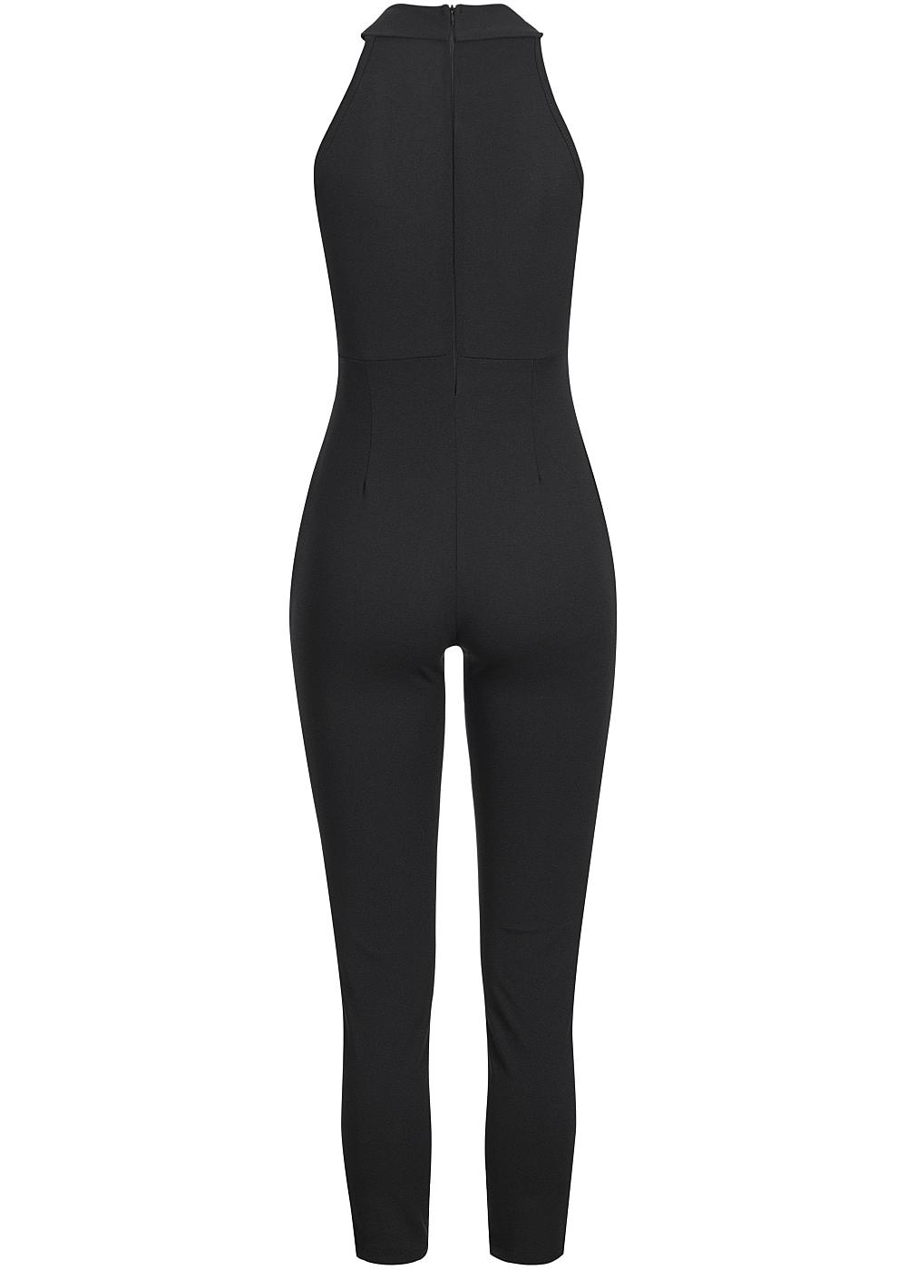 styleboom fashion damen jumpsuit vorne t ll 2 taschen. Black Bedroom Furniture Sets. Home Design Ideas