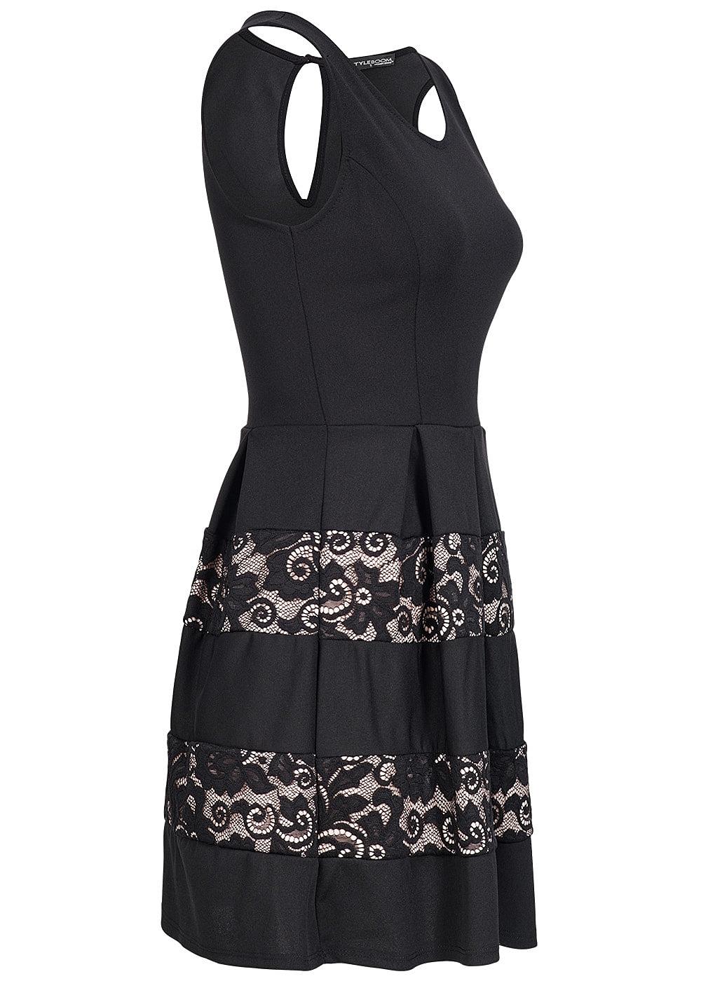 styleboom fashion damen mini kleid weit ausgestellt unten. Black Bedroom Furniture Sets. Home Design Ideas