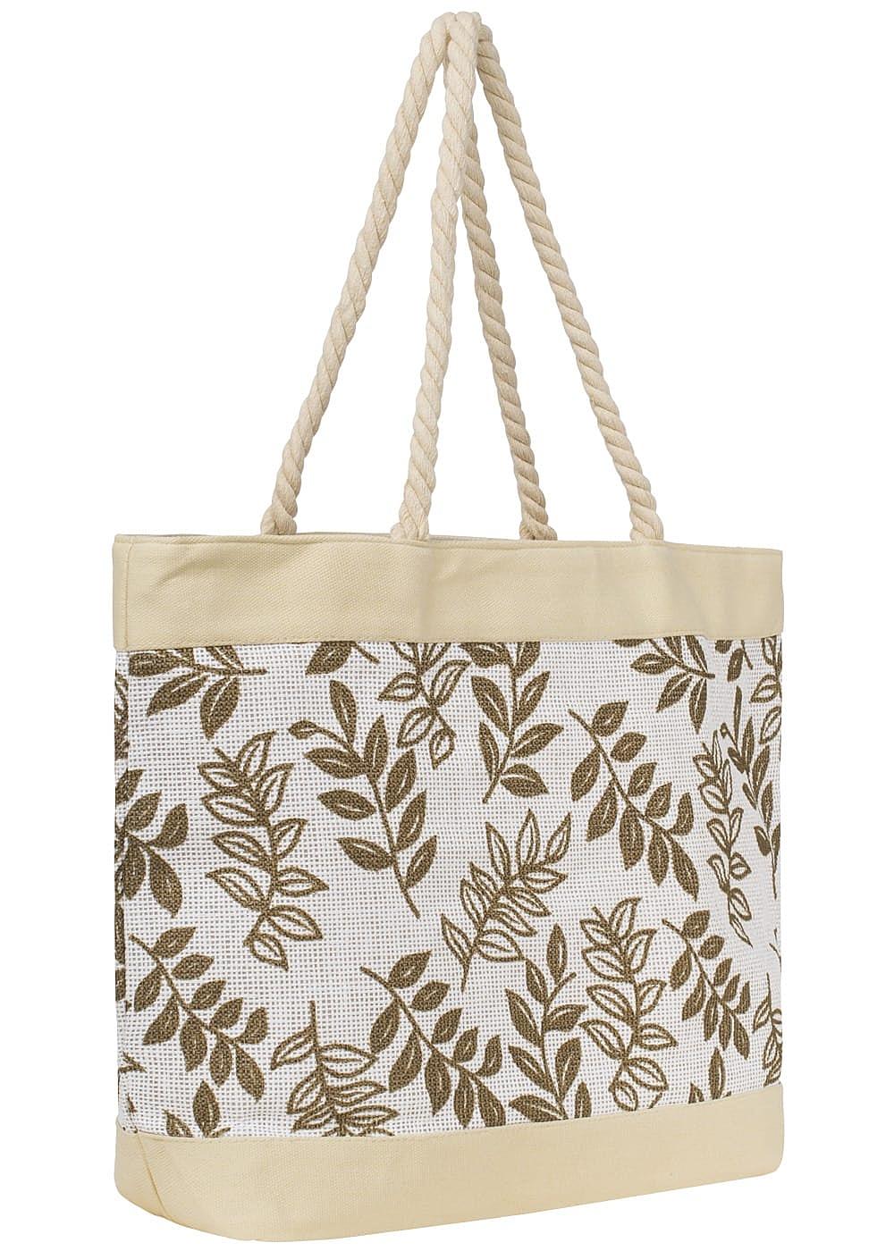 seventyseven lifestyle damen strandtasche beige 77onlineshop. Black Bedroom Furniture Sets. Home Design Ideas