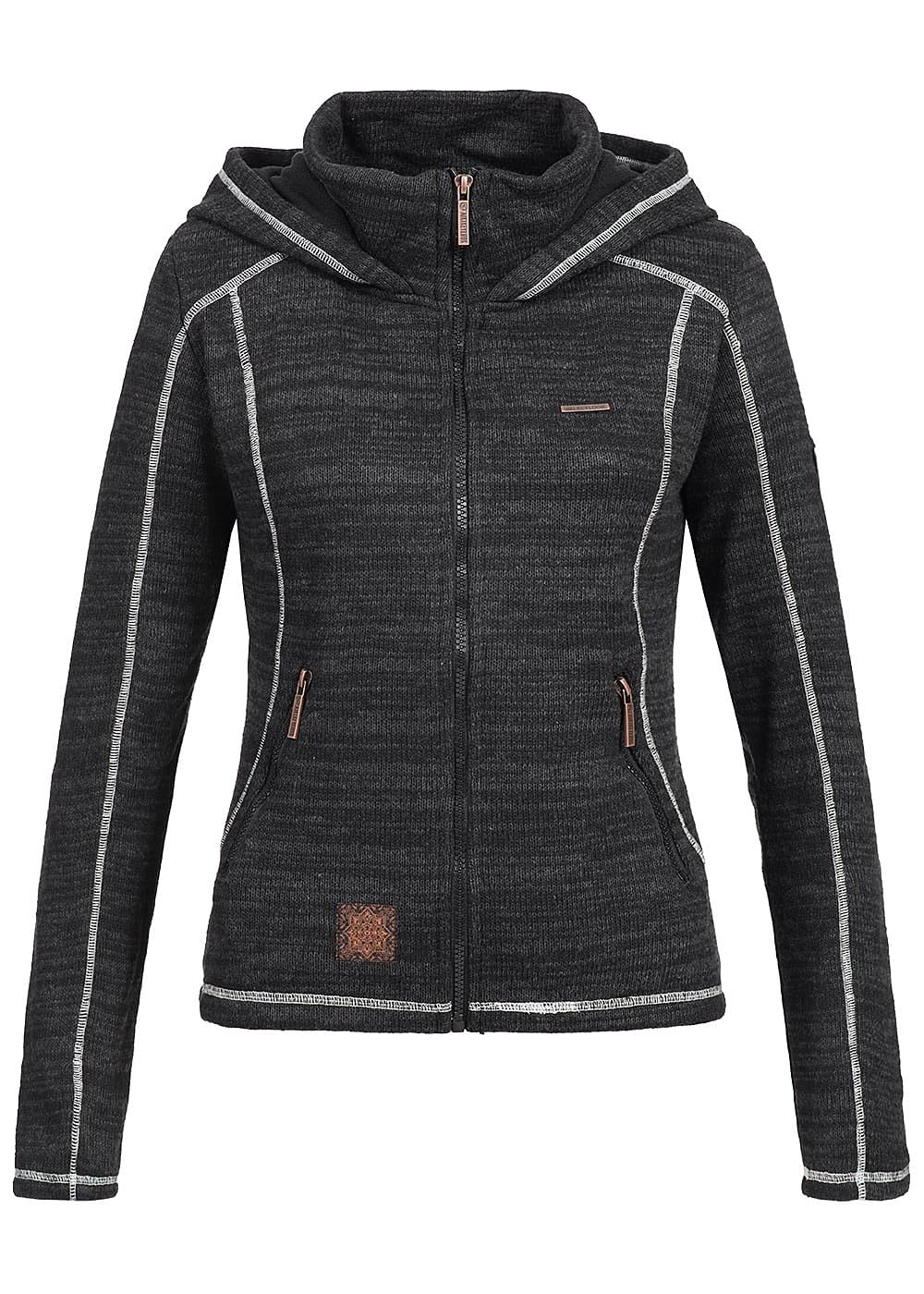 aiki damen sweat jacke zip hoodie 2 taschen kapuze. Black Bedroom Furniture Sets. Home Design Ideas