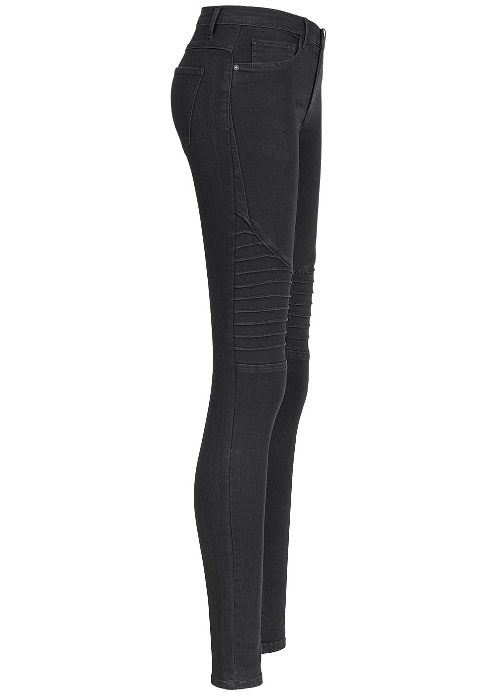 only damen biker jeans hose 2 deko taschen vorne 2 taschen. Black Bedroom Furniture Sets. Home Design Ideas
