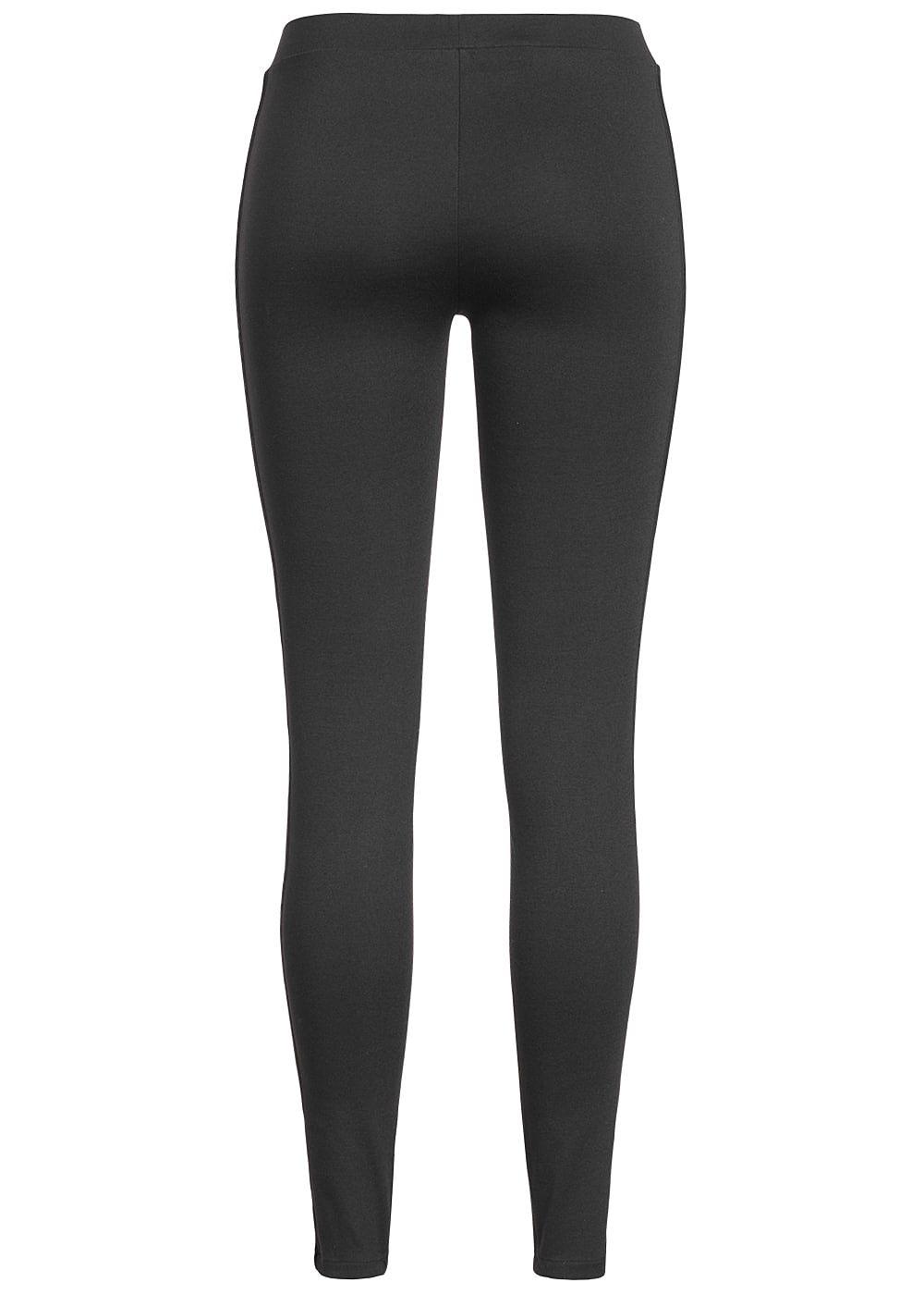 only damen leggings samt streifen seitlich schwarz. Black Bedroom Furniture Sets. Home Design Ideas