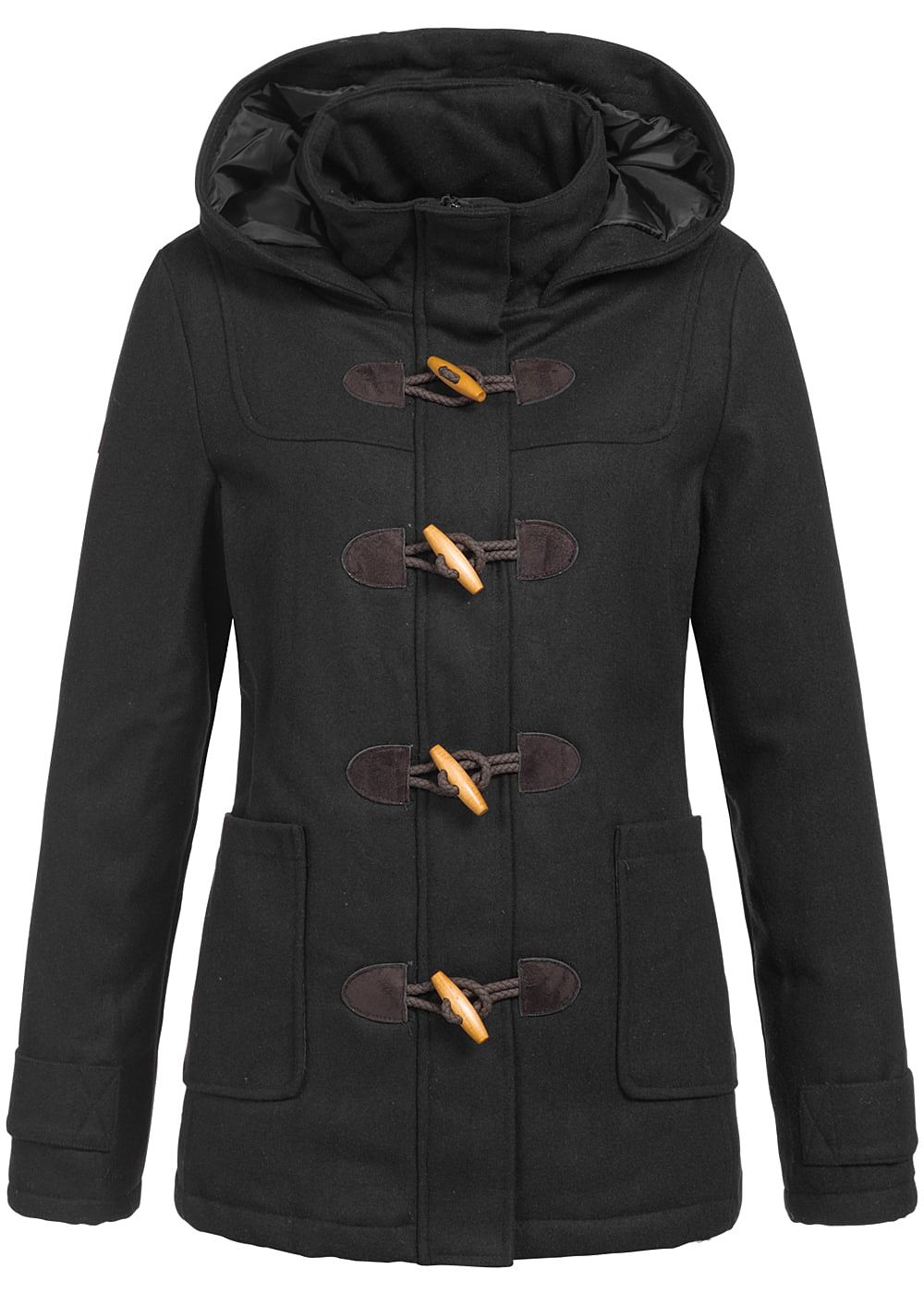 seventyseven lifestyle damen winter parka kapuze 2 taschen. Black Bedroom Furniture Sets. Home Design Ideas