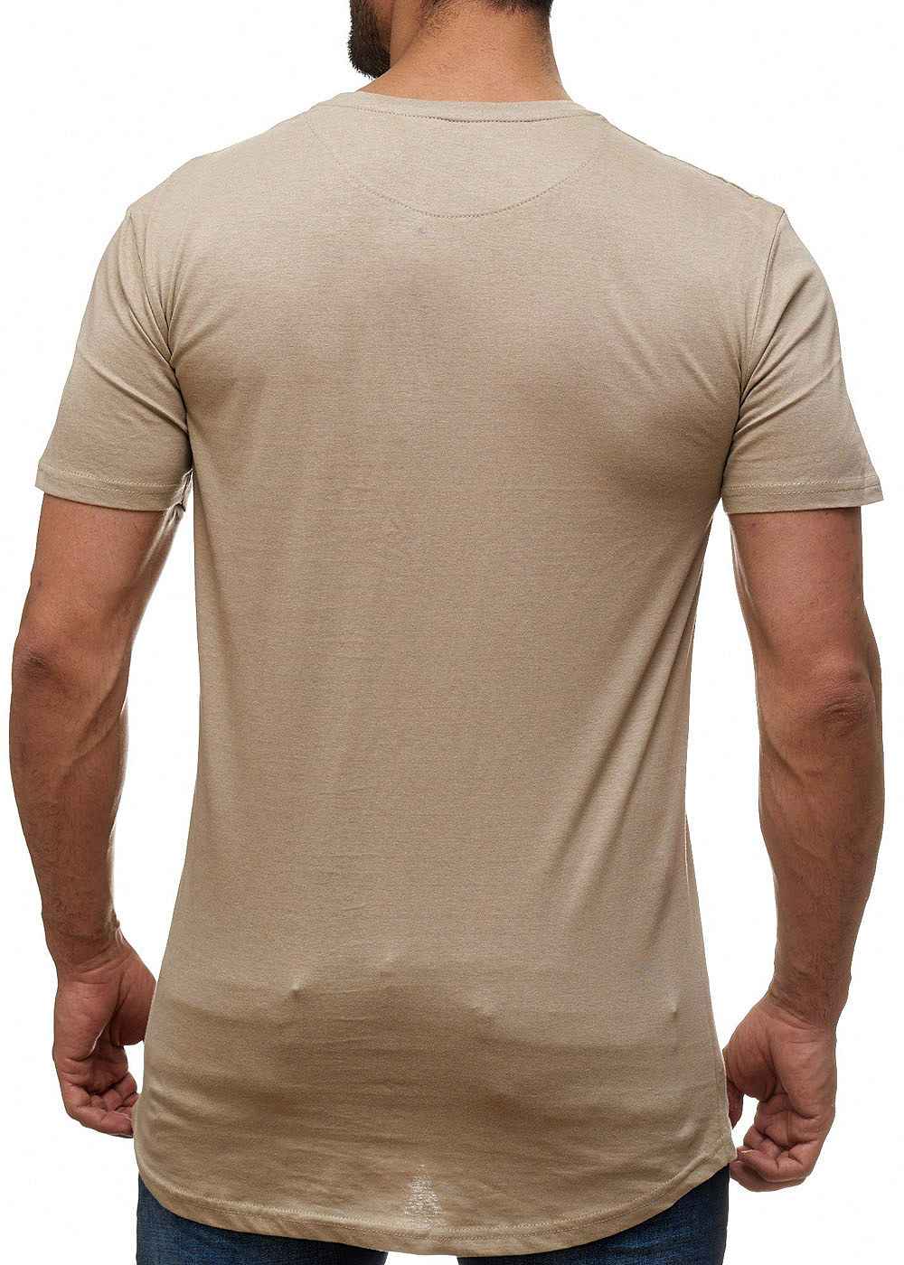 9aab9789ab4155 Seventyseven Lifestyle Herren T-Shirt Longform Brusttasche mushroom ...
