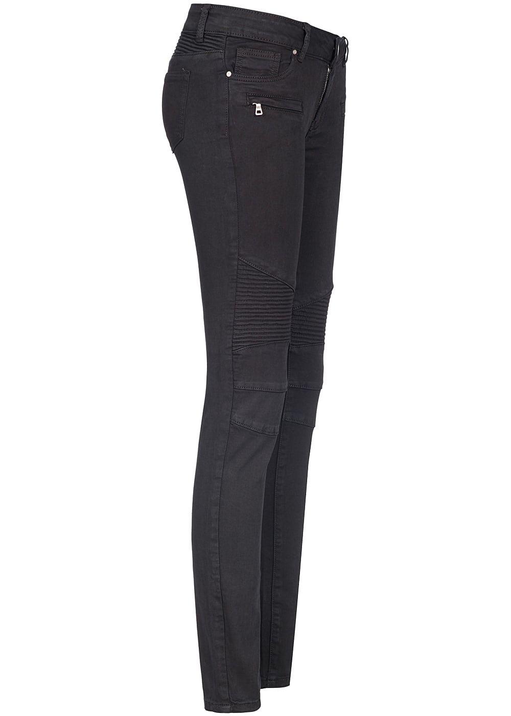 hailys damen jeans biker style 5 pockets und zipper. Black Bedroom Furniture Sets. Home Design Ideas
