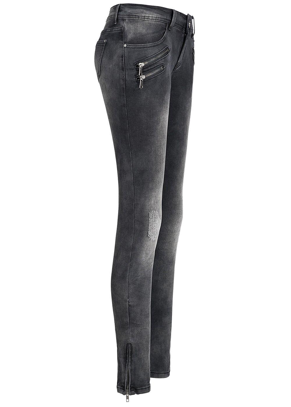 seventyseven lifestyle damen jeans hose crash optik 3 deko. Black Bedroom Furniture Sets. Home Design Ideas