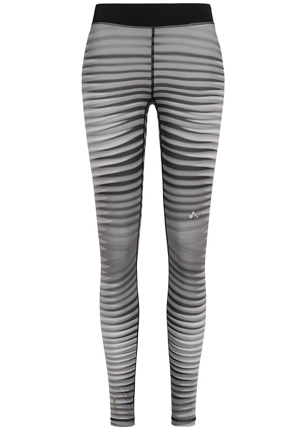 only damen trainings tights leggings streifen schwarz weiss 77onlineshop. Black Bedroom Furniture Sets. Home Design Ideas