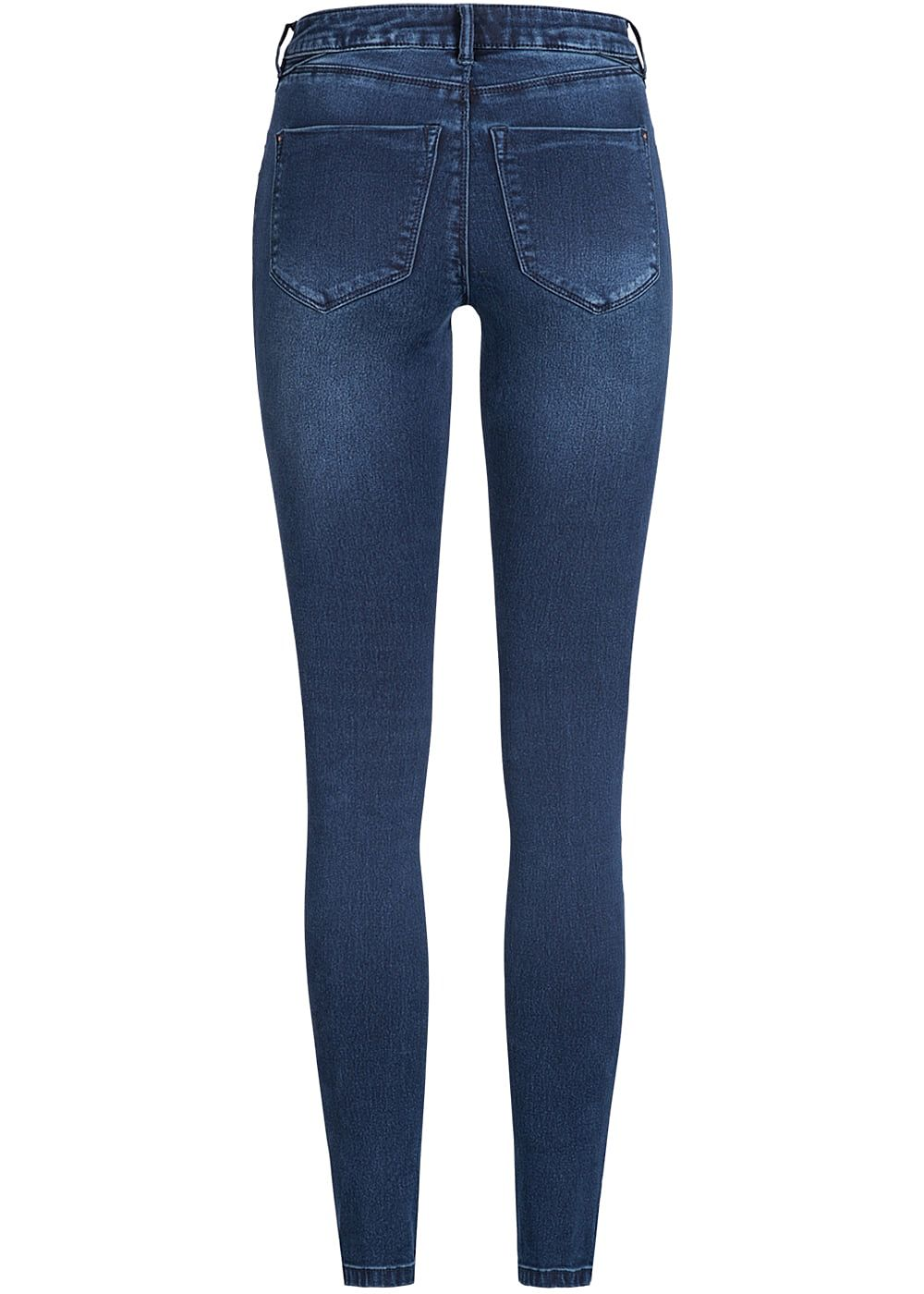 only damen biker jeans hose stretch 4 pockets regular waist dunkel blau denim 77onlineshop. Black Bedroom Furniture Sets. Home Design Ideas