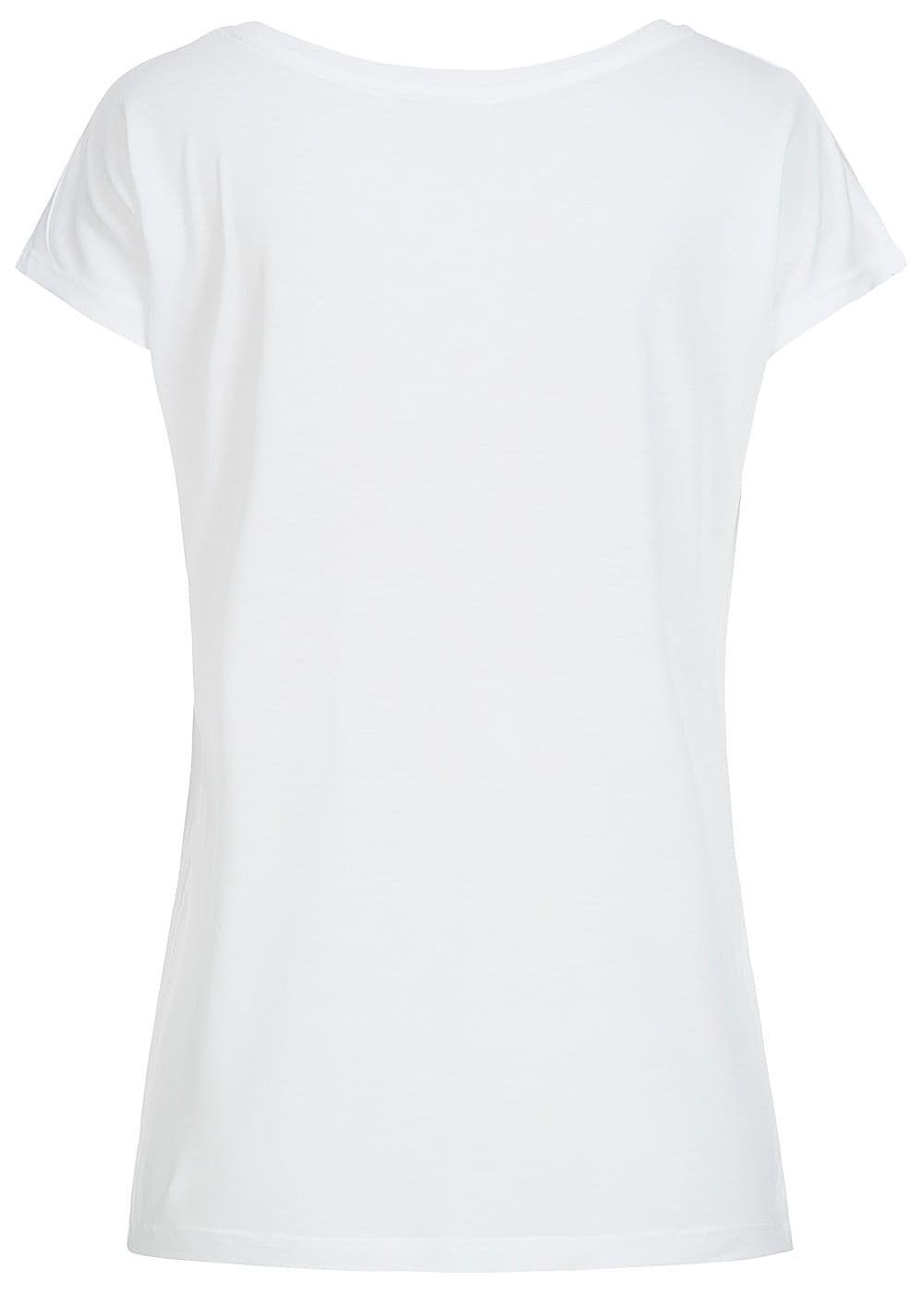 eight2nine damen t shirt rosen patch by fresh made weiss. Black Bedroom Furniture Sets. Home Design Ideas