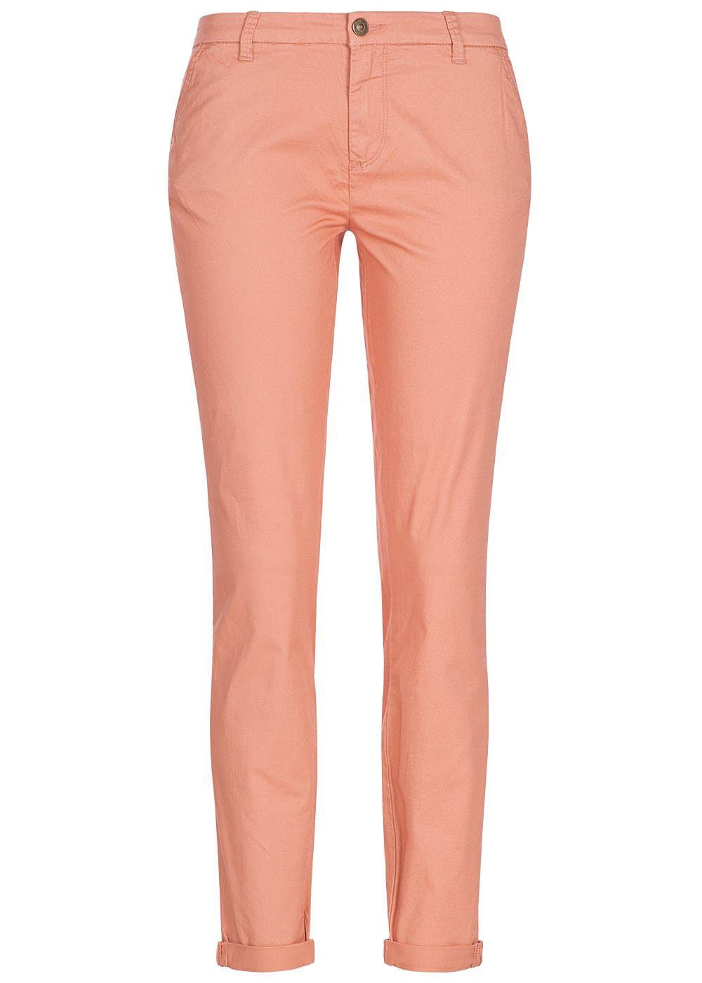 c7ffe5ad62120d ONLY Damen Skinny Chino Hose 4-Pockets Beinumschlag NOOS dawn rosa ...