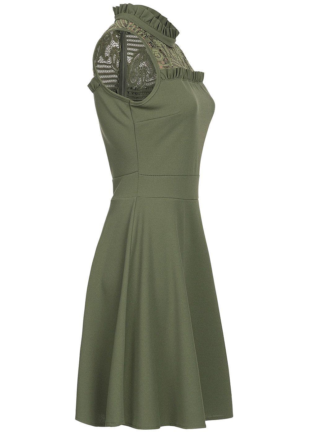 kleid grün spitze