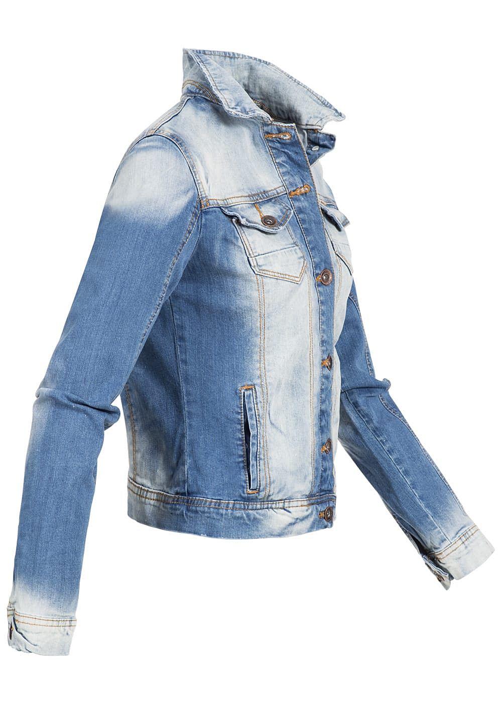 eight2nine damen jeans jacke washed look 4 pockets by rock. Black Bedroom Furniture Sets. Home Design Ideas