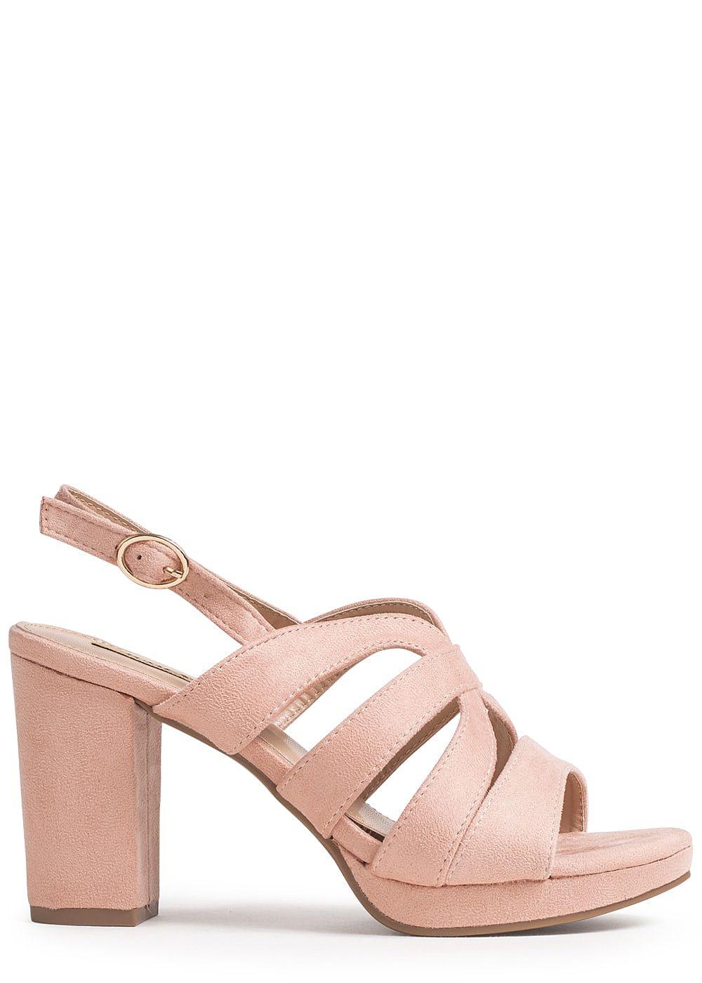 5cm Lifestyle 9 Sandalette Absatz Kunstleder Damen Rosa Seventyseven Schuh SULpVGqzjM