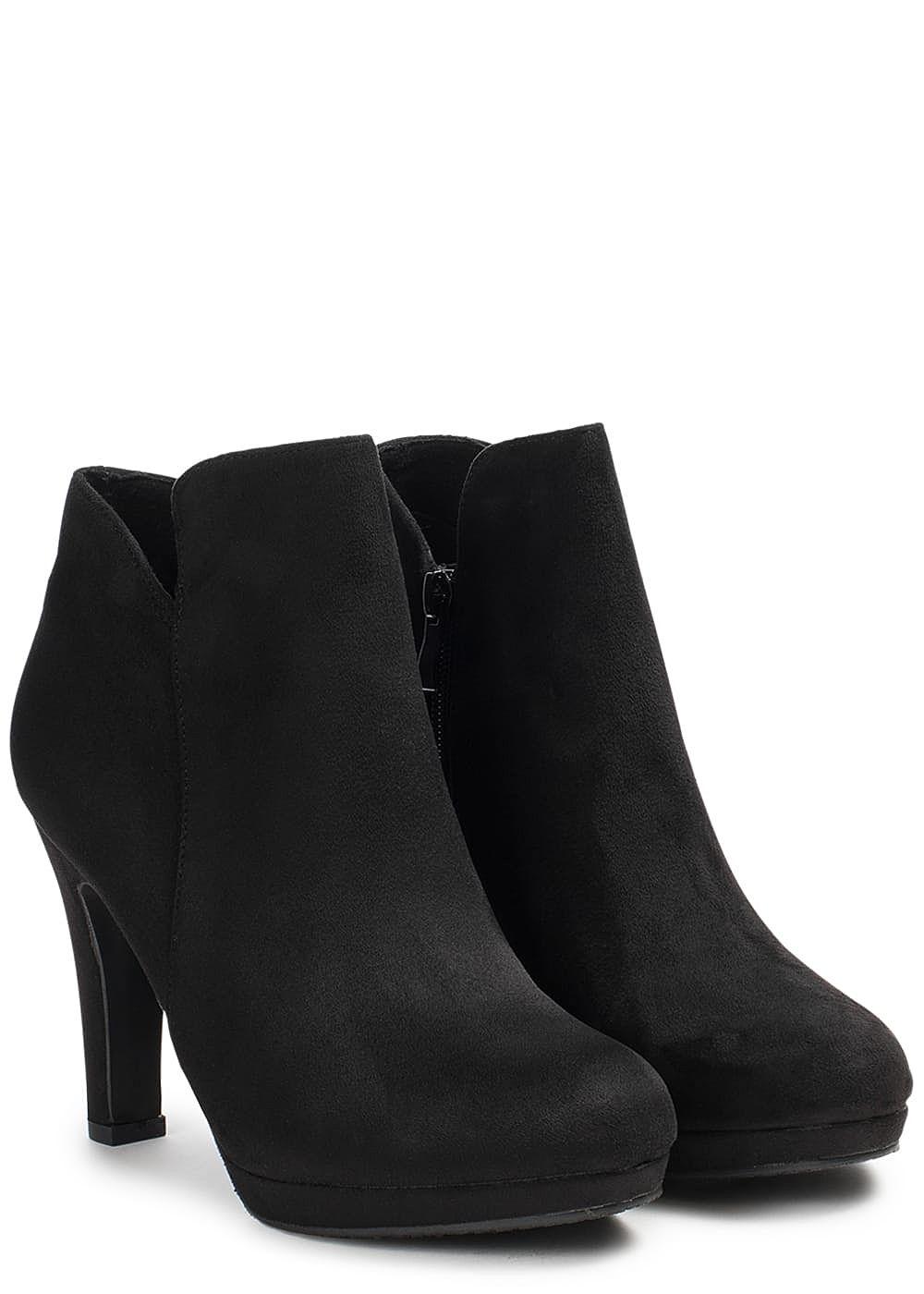 Hailys Damen Schuh Stiefelette Kunstleder Absatz: 10cm