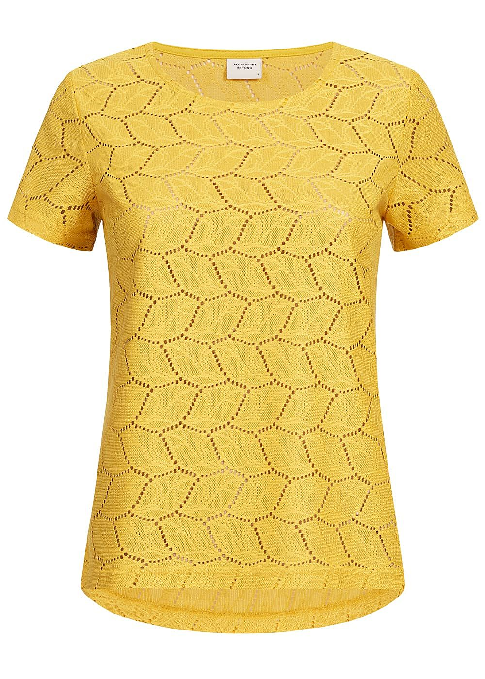 frische Stile innovatives Design professioneller Verkauf JDY by ONLY Damen T-Shirt Cut Out NOOS mustard gelb