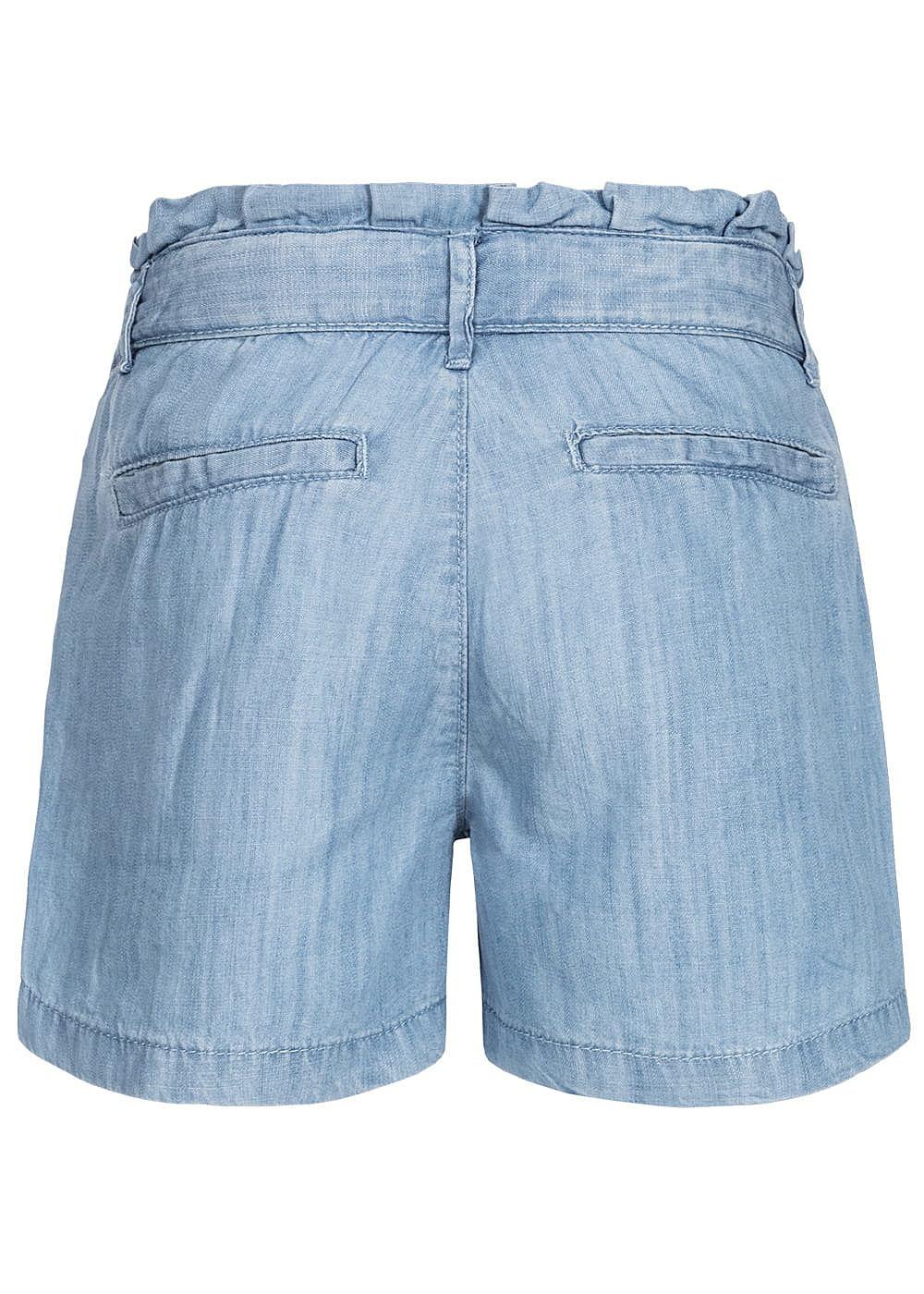 neue Kollektion Sortendesign Schnäppchen 2017 Name It Kids Mädchen Paper- Bag Shorts Belt 2-Pockets NOOS hell blau denim