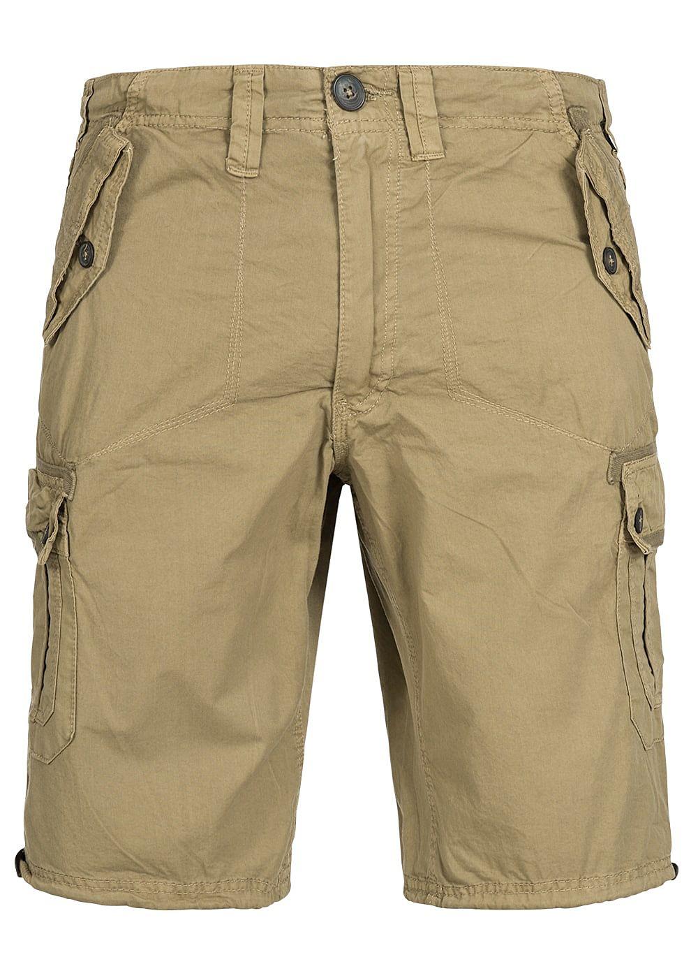9579abcdcb330 Seventyseven Lifestyle Herren Cargo Shorts 6-Pockets sand beige