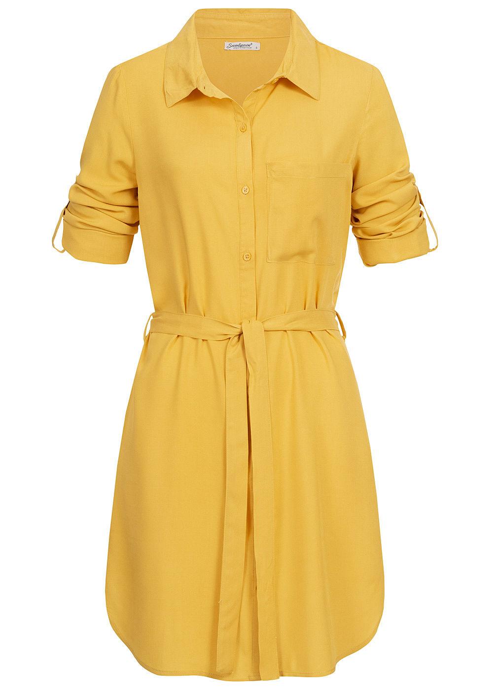 Seventyseven Lifestyle Damen Turn-Up Blusen Kleid ...