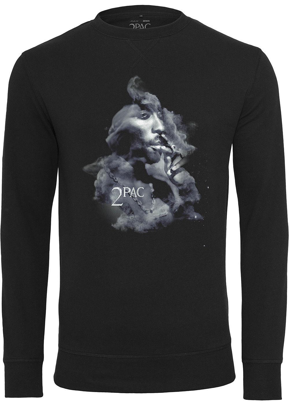 Mister Tee TB Herren Sweater Tupac Smoke Print schwarz grau