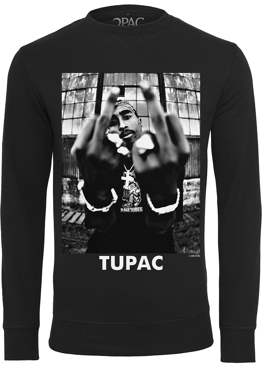 Mister Tee TB Herren Sweater Tupac Print schwarz 77onlineshop
