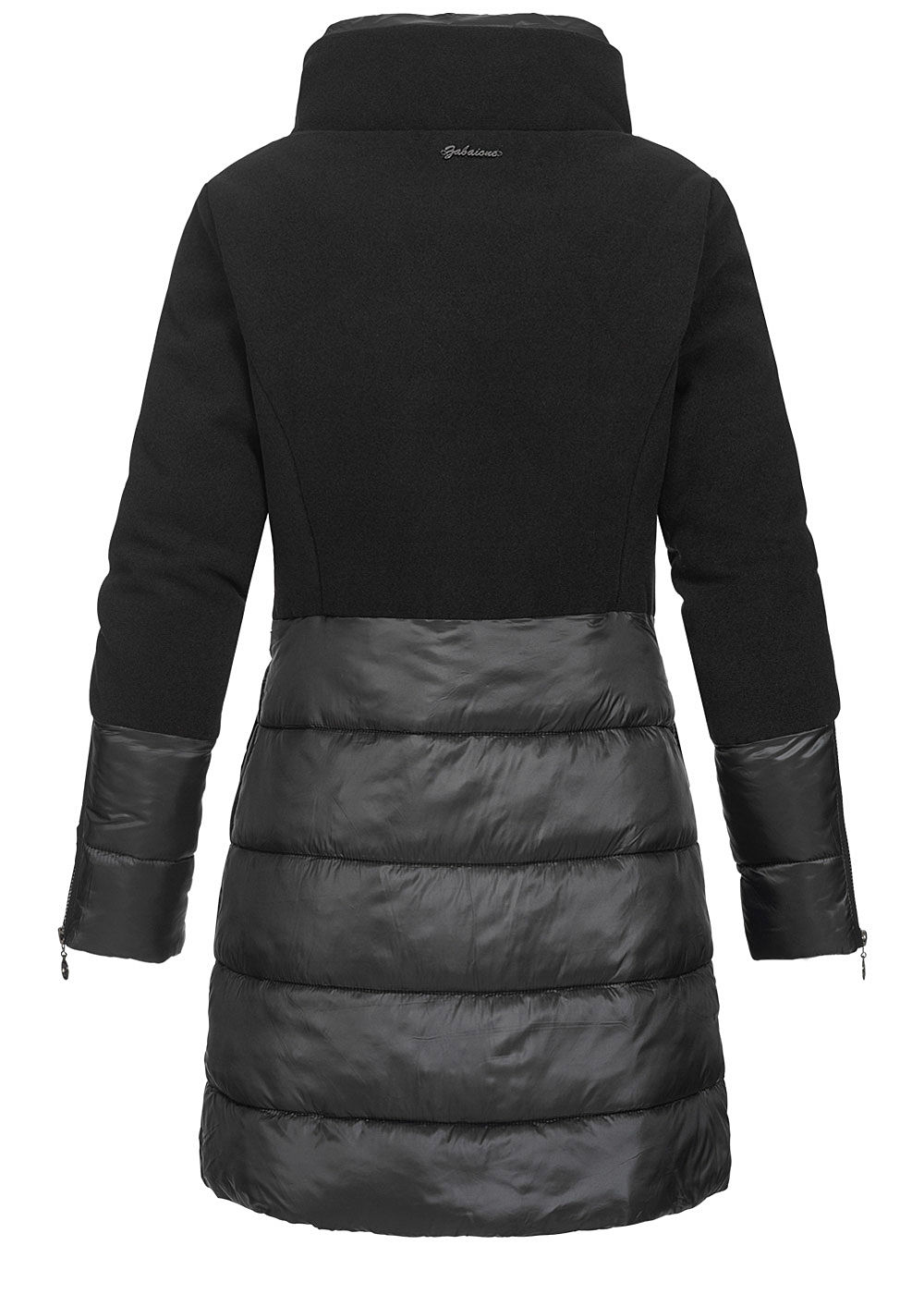 Zabaione Damen Winter Mantel Jacke Stehkragen 2 Pockets