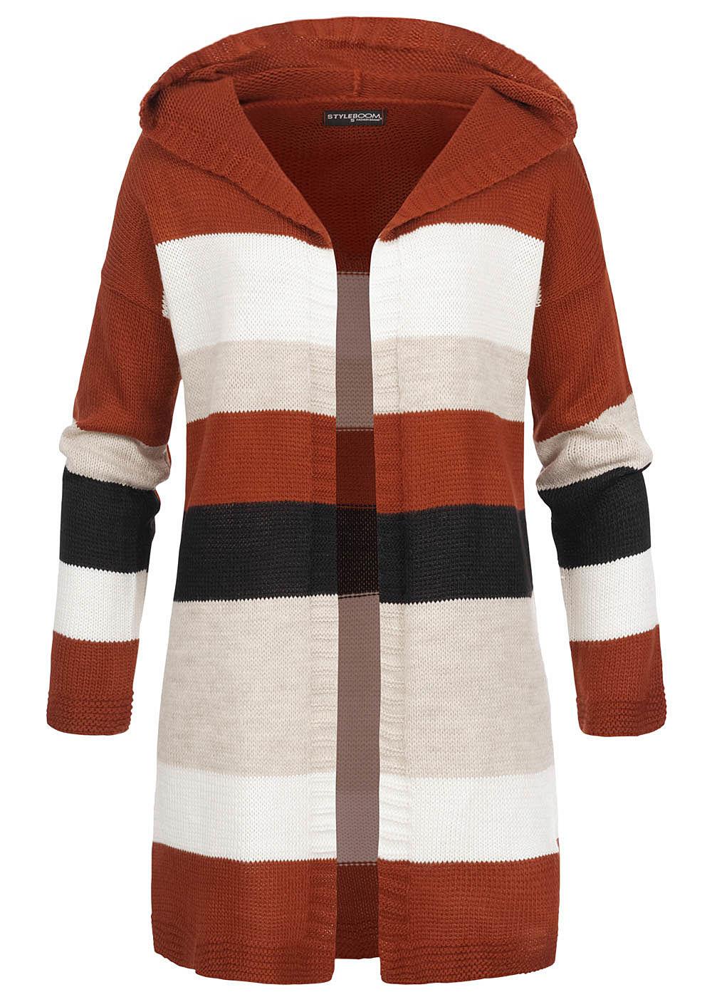 styleboom fashion damen kapuze cardigan