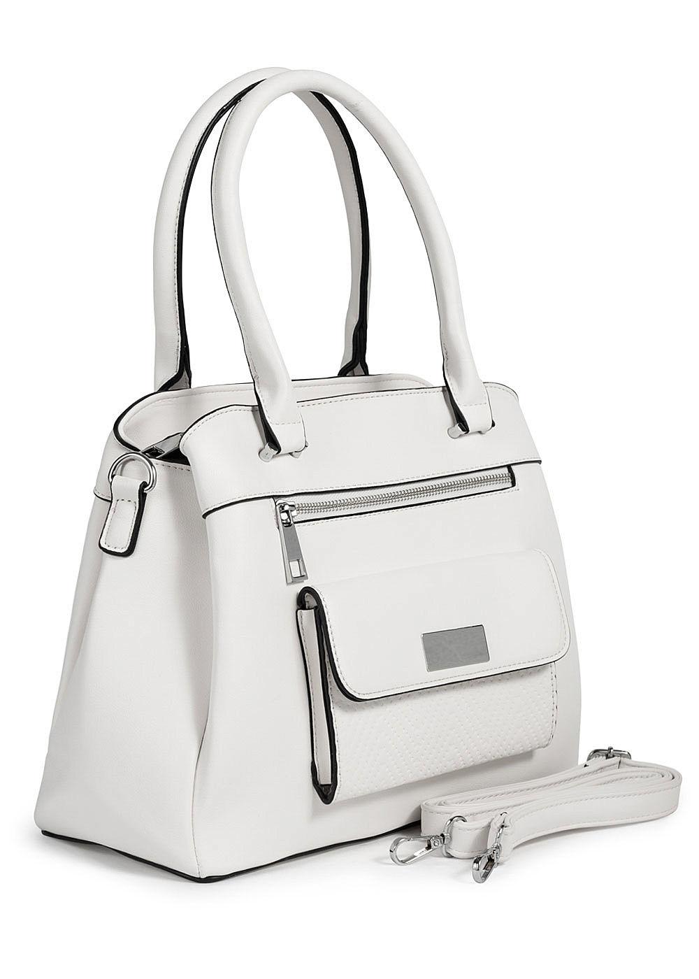 Styleboom Fashion Damen Kunstleder Handtasche 40x25cm