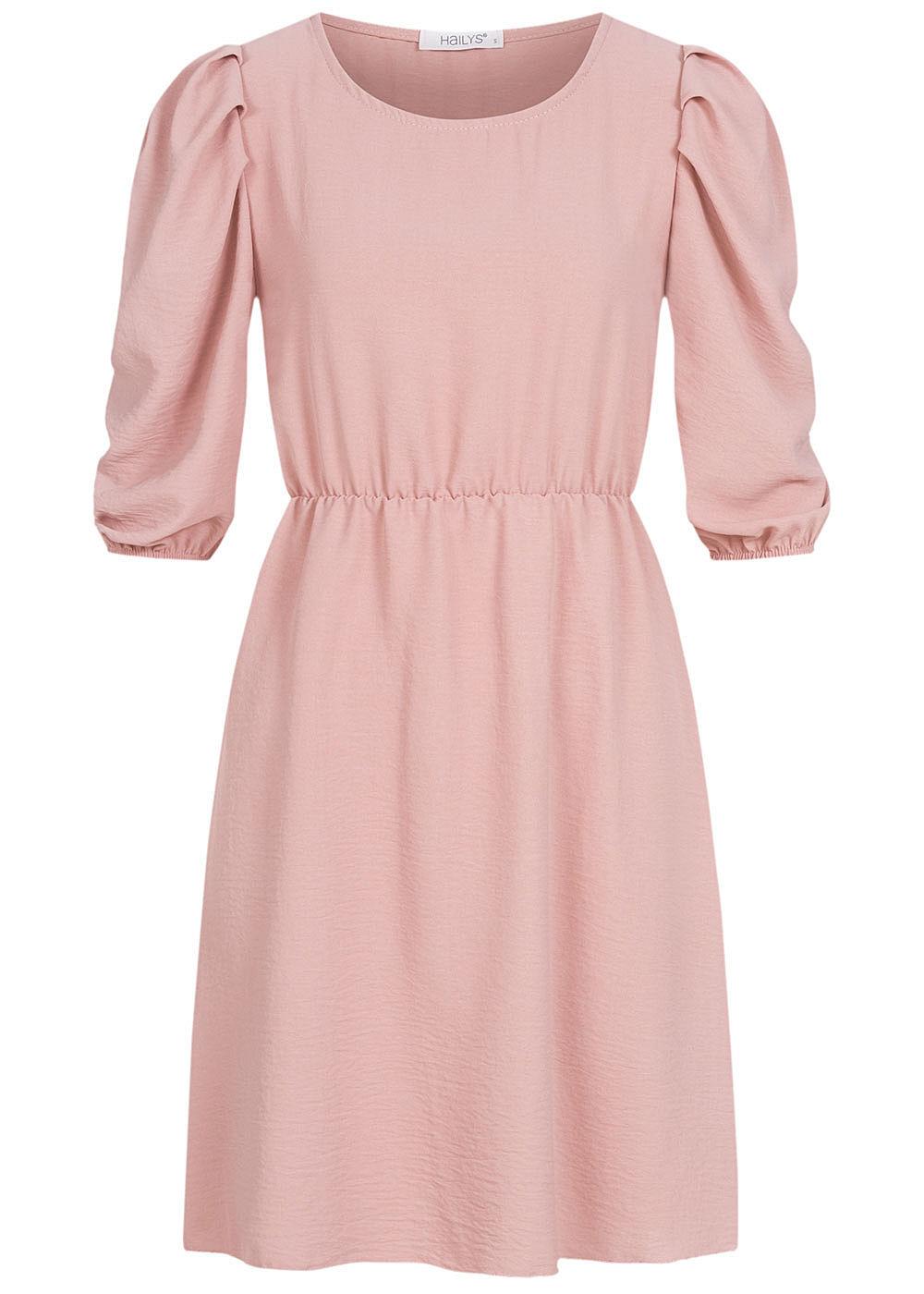 Hailys Damen 18/18 Arm Puffer Kleid rosa