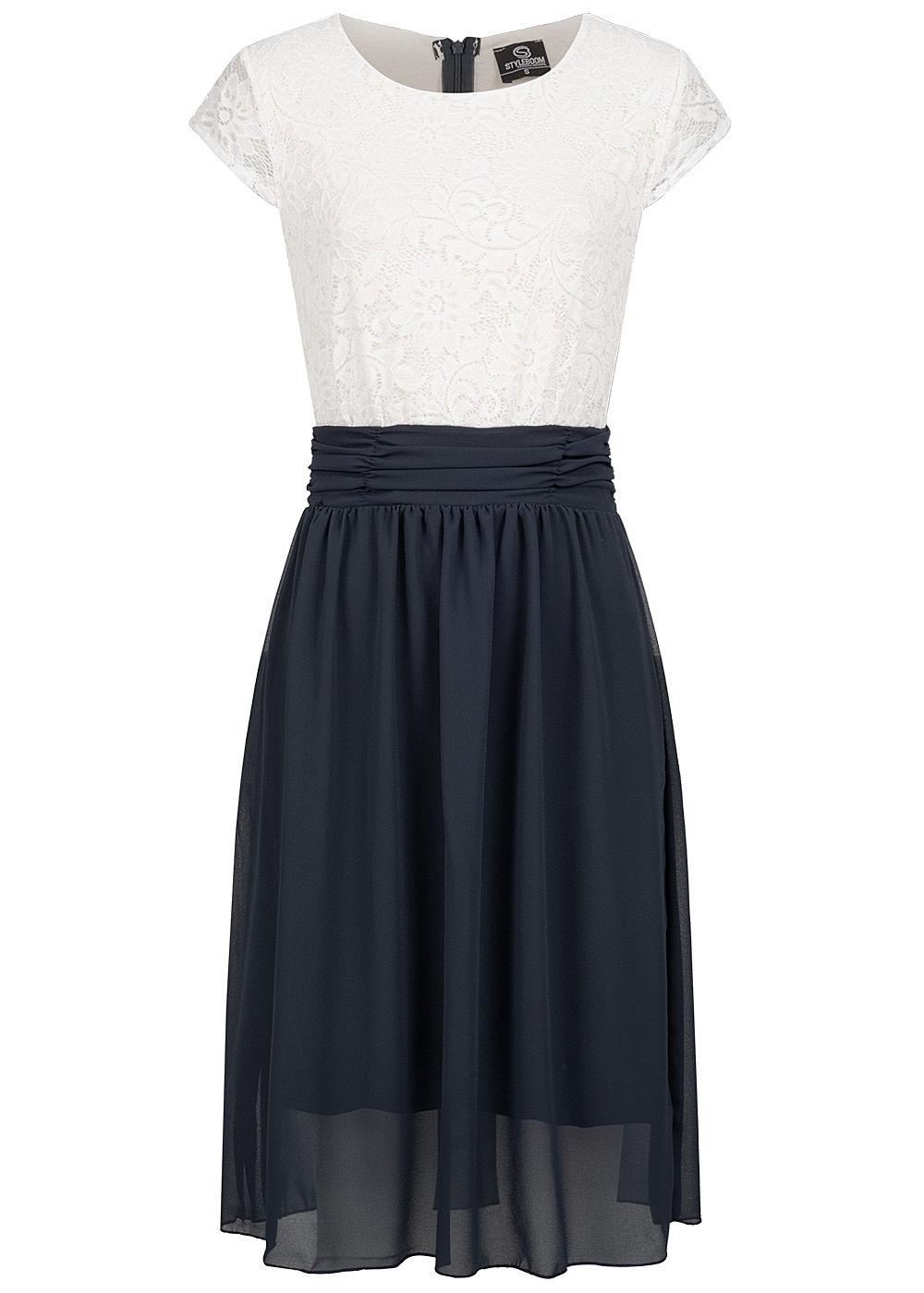 Styleboom Fashion Damen 17-Tone Chiffon Kleid mit inkl. Gürtel 17