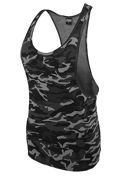 Vereinigte Staaten neuartiger Stil große Auswahl an Designs Seventyseven LifestyleTB Damen Loose Tank Top Camouflage Look urban schwarz  grau camo