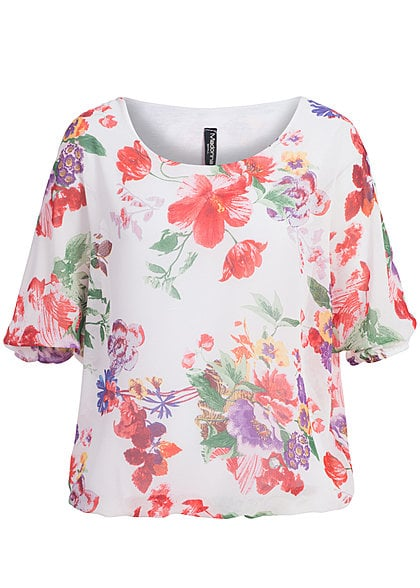 Madonna Chiffon Top ANNA- SOPHIE Blumen Allover V1 off weiss - Art.-Nr.: 14070487
