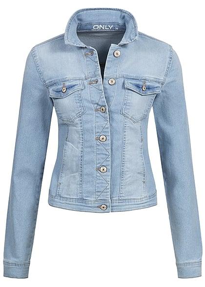 only damen jeans jacke noos 2 taschen 2 brusttaschen knopfleiste hell blau denim 77onlineshop. Black Bedroom Furniture Sets. Home Design Ideas