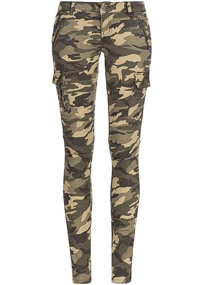 seventyseven lifestyle damen jeans hose 6 pockets 3 deko zipper camouflage gr n 77onlineshop. Black Bedroom Furniture Sets. Home Design Ideas