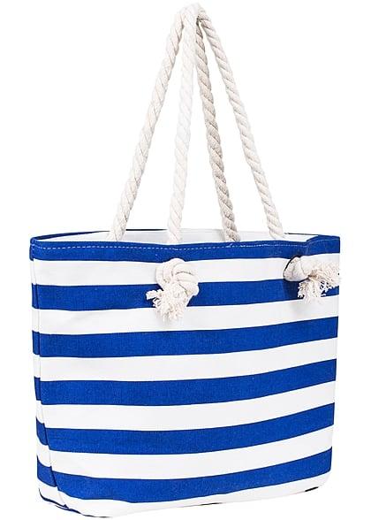 hailys damen strandtasche gestreift royal blau weiss 77onlineshop. Black Bedroom Furniture Sets. Home Design Ideas