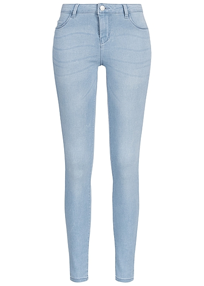 jdy by only damen skinny jeans 2 deko taschen vorne noos hell blau denim 77onlineshop. Black Bedroom Furniture Sets. Home Design Ideas