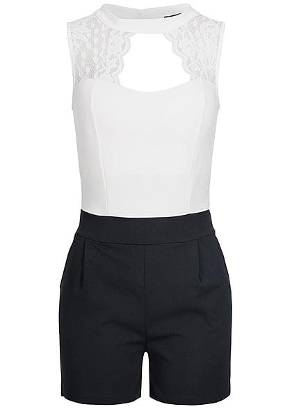 styleboom fashion jumpsuit spitze brustpads weiss schwarz. Black Bedroom Furniture Sets. Home Design Ideas